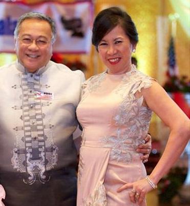 PIDCI President Prospero Lim and former treasurer  Violeta Manarang-McGough who  stepped down for health reasons. Photo by Boyet Loverita