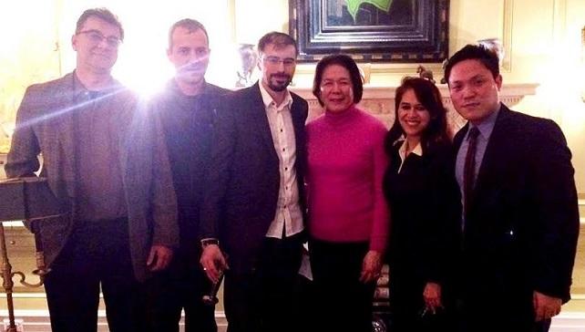 With JCI Philippine-New York officers Vikram Jagtiani, Alex Drogeanu, Malik Kahli, Vivian Velasco and Stevenson Van Derodar