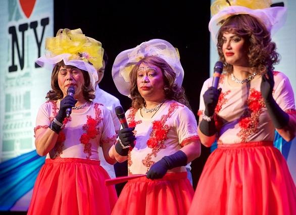 The Three Lolas portrayed by Jose Manalo, Willy Bayola, and Paolo Ballesteros. Photo by Boyet Loverita