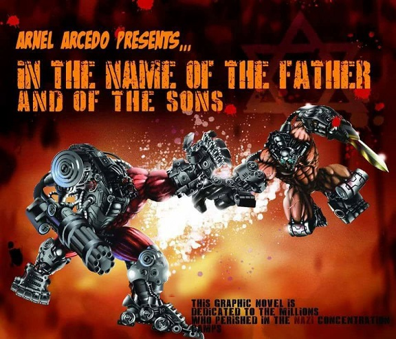 Arcedo's graphic novel  'In The Name Of The Father And Of The Sons'