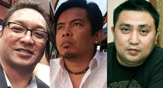 From left: Ramon Gil, Arnel Arcedo, and Vince Lontoc