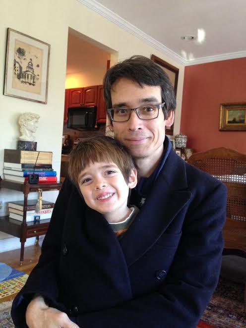 Son James and grandson Jasper who live in Ohio