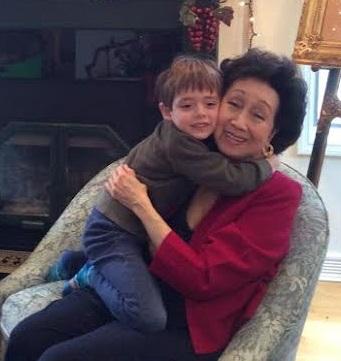 Jean with 4-year-old grandson Jasper