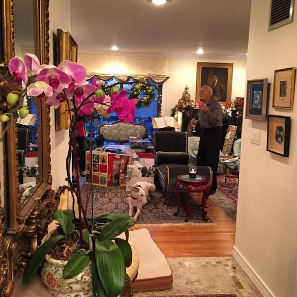 Jean's husband Alan at the couple's Westchester home.