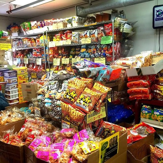 A wide variety of snacks: about 300 SKUs of chips