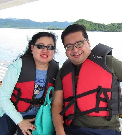 In El Nido, Palawan, one of their favorite vacation spots