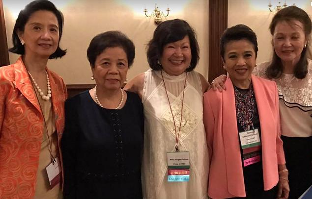 The ladies of '67: Baba Alonso-Perez, Connie Somers-Uy,  Metty Vargas-Pellicer, Noy Calderon-Panahon, and Lina de la Cruz