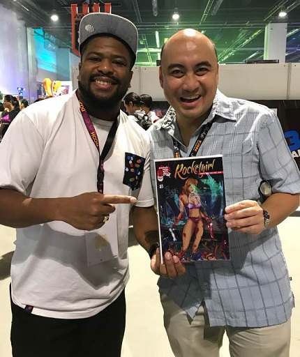 The author meets Fred Corder  at Toy Con 2017 at the SMX Convention Center in Pasay City.