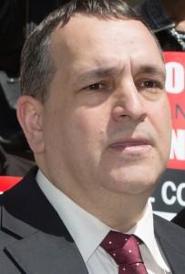 Former State Senator Hiram Monserrate. Opponents portray him as a 'criminal'