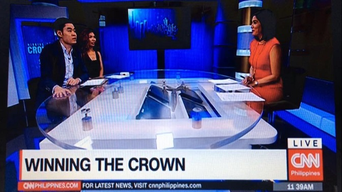 Sharing his insights on the Miss Universe contest on CNN Philippines