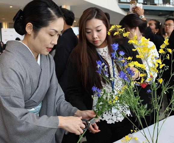 An Ikebana demonstration at the UN.
