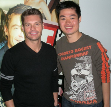 With his American idol, Ryan Seacrest