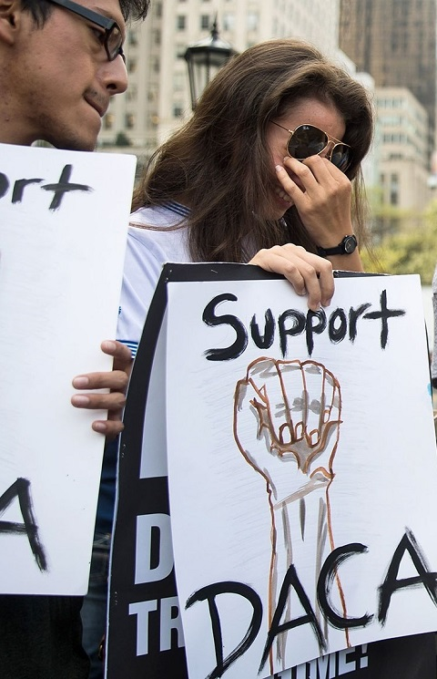 Keep-DACA protest in Manhattan. Photo: Getty Images