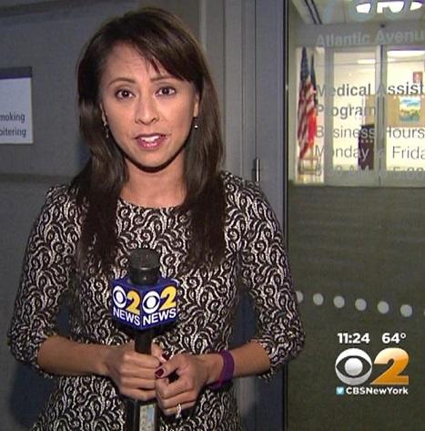 CBS anchor/reporter Hazel Sanchez. Photo: NYCNewswomen
