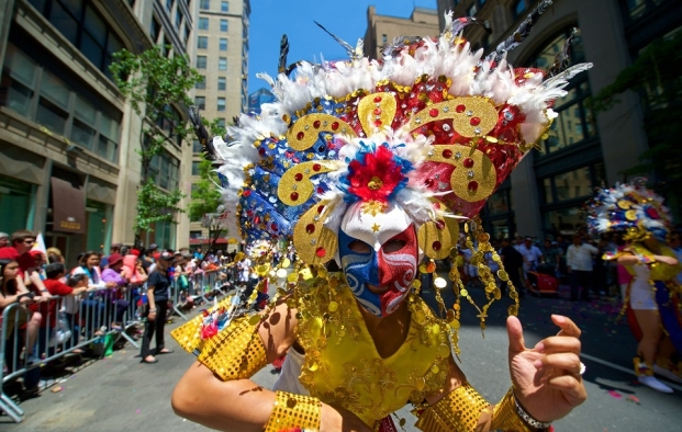 A performer in the Independence Day Parade and street festival on Madison Avenue, which is an annual PIDCI production. Photos: philippineindependenceday.com