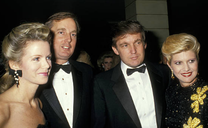 Top photo: Socialite Blaine Trump with husband Robert, brother-in-law (now U.S. President) Donald Trump, and sister-in-law Ivana. Photo: Getty Images. Below:  Reyas keeps cards, notes and memos from her employers, including Robert and Blaine Trump, as prized mementos. She said her name 'Jossie'  is often misspelled. Photo by Mariel Padilla