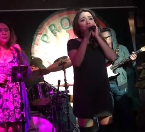 Arianne Aldecoa singing a Top 40 cover