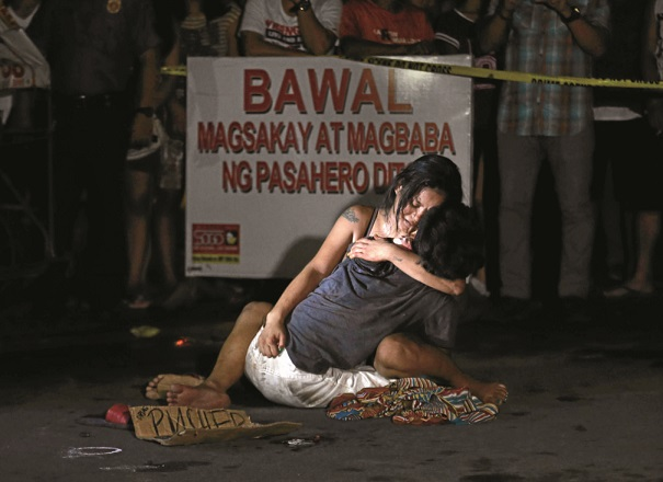 Lerum's 'Pieta' image -- published by the Philippine Daily Inquirer in July 2016 -- was criticized by President Rodrigo Duterte in his State of the Nation Address as 'overly dramatic.'