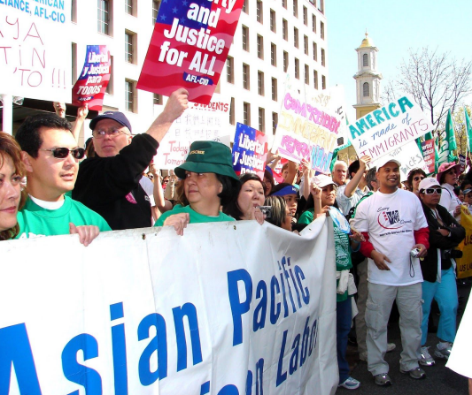 NaFFAA, led by former Executive Director Joe Montano, joins coalition partners in the Asian American community to rally for comprehensive immigration reform in the nation's capital.