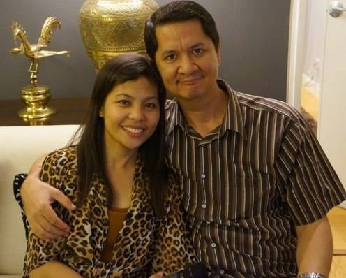 With wife Maria Victoria