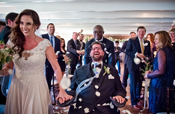A room full of joy for the couple.