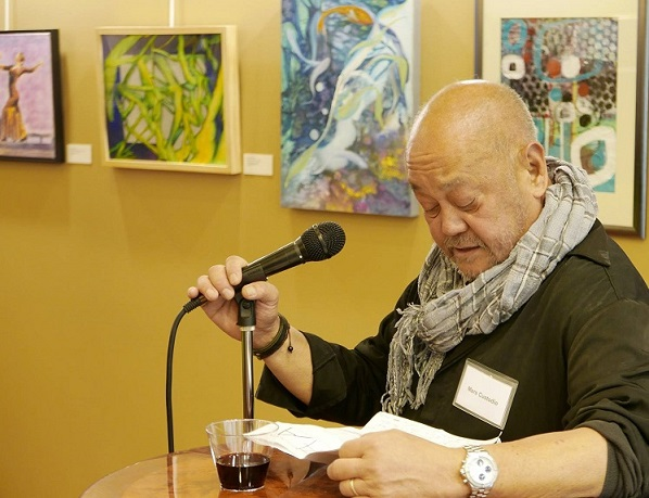One of his last public appearances was at the annual art exhibit of the Society of Philippine American Artists held October 26 at the Philippine Center. He was the SPAA president. SPAA photo