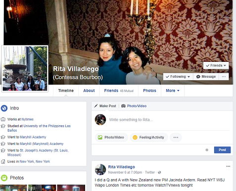 Her Facebook page