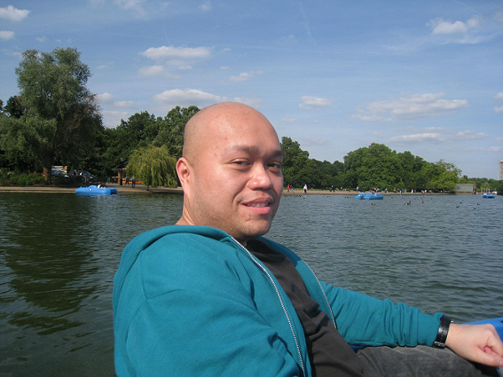 Boating at the Serpentine in Hyde Park, London: 'I frequently wondered whether I should become a doctor.'