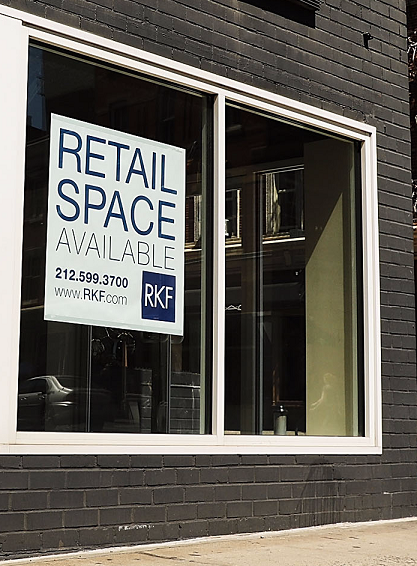 For Rent signs becoming widespread across the five boroughs.