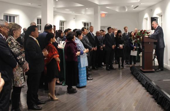 Among the esteemed guests at the reception were Ambassador Nathan Alexander Sales; Deputy Assistant Secretary of Defense Joseph Felter III; Representative Bobby Scott (D-VA); and Representative Madeleine Bordallo (D-Guam).
