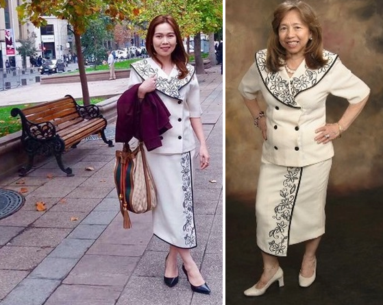 By wearing her late mother's suits, Tanya keeps her memory alive.