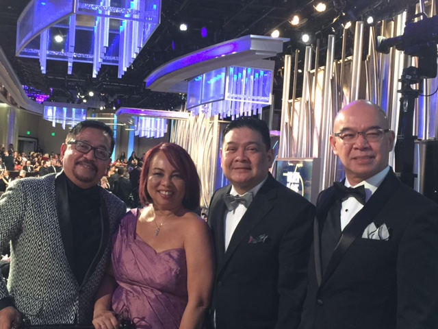 Edwin and Jerry with HFPA officers and friends Ruben Nepales and Janet Susan Nepales