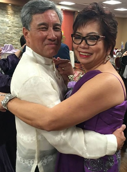 Thirty-five years -- and three times -- married to Jesus Borromeo. They have three children.
