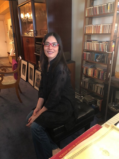 At her New York apartment she shares with her son and two pianos. The FilAm Photo