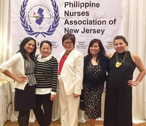 With colleagues from the Philippine Nurses Association of New Jersey. Photo by Arlin Fidellaga