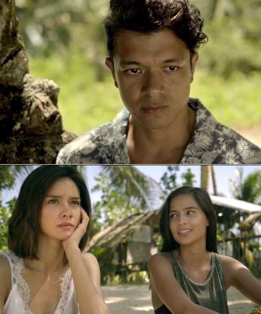A different love triangle: Diego (Jericho Rosales) and his two loves – Laura (Erich Gonzales) and Abi (Jasmine Curtis-Smith).