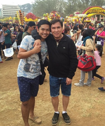 The pair met through friends in Baguio during the Panagbenga flower festival.