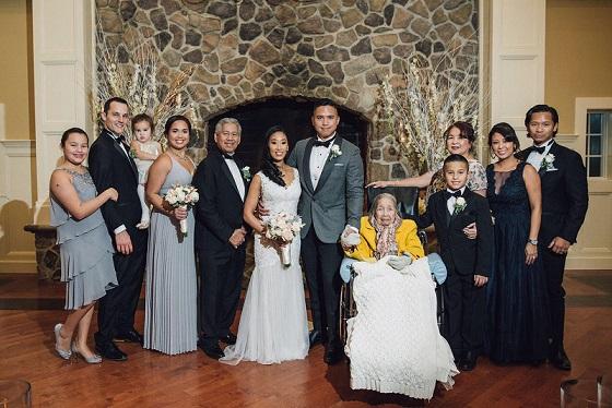 The Ubaldo family at Ron and Sophia's wedding.