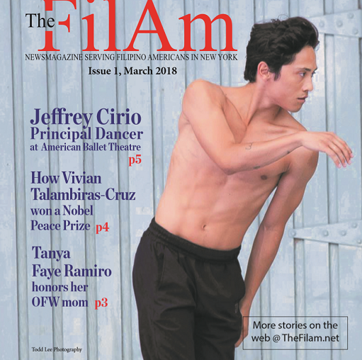 Front cover:  Principal dancer Jeffrey Cirio of the American Ballet Theatre
