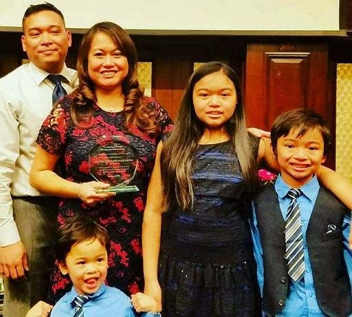 IBM engineer Virginia Policarpio with husband, Patrick Policarpio, and their children – daughter Trinity Maya, sons Cassius Sebastian and Lorenzo Remy. Facebook photo