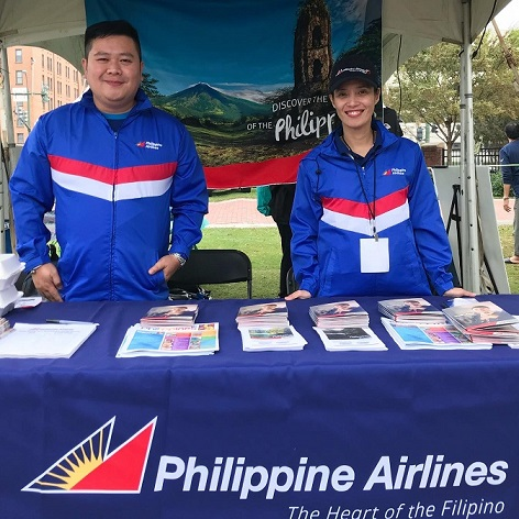 With Charisse Arboleda of the PAL office in NYC, as Philippine Airlines takes part in the celebration of Philippine-American Heritage Month in Norfolk, Virginia.  Facebook photo