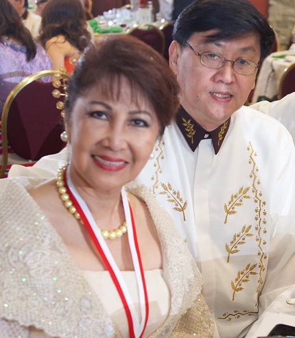 With life partner Fe Martinez, three-term president of the Philippine Independence Day Council, Inc.