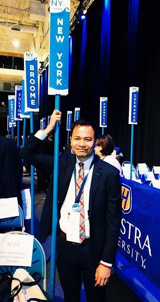 At the May 21 New York State Democratic Party Convention at Hofstra University on Long Island.