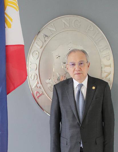 Ambassador Jose Manuel 'Babe' Romualdez: 'Why not?' Philippine Embassy photo