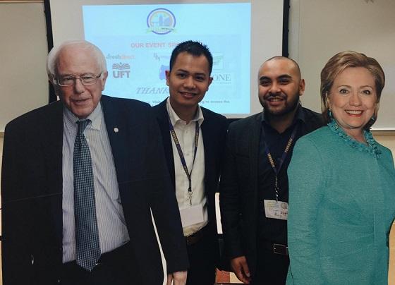 With Filipino American Democratic Club Vice President Steven Raga.