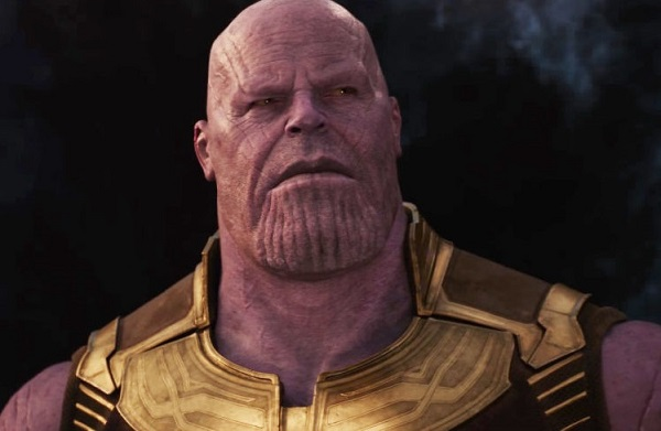 The villain Thanos brought to life by actor Josh Brolin.