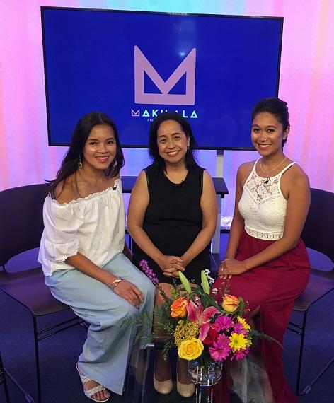 Makilala TV co-hosts, from left, Jen Furer, Cristina Pastor and Rachelle Ocampo