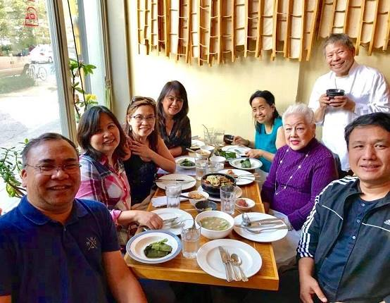 Entertaining members of the FilAm Press Club and visitors from Cebu during 2017 Filipino Restaurant Week.