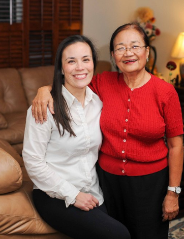 Her mother, Victorina Ortiz from Pangasinan, is an educator in Texas's public school system.