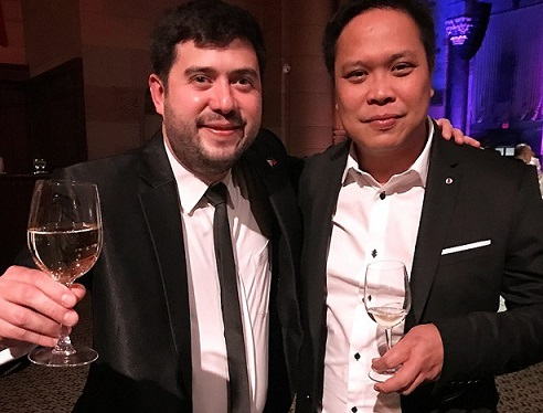 Jappy Afzelius (left) and Ariz Tuazon at a formal dinner event at Cipriani.  Photo by Aris Tuazon
